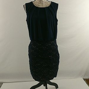 Enfocus Studio navy blue dress